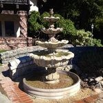 gorgeous fountains on the grounds