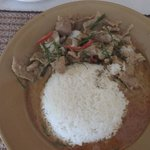 pork penang curry with plain rice
