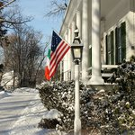 The Inn blanketed with snow