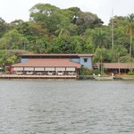 Tortuga Lodge from airstrip across the river