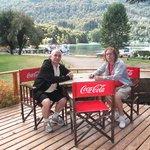 Pausa en el deck de Restaurante La Cabaña