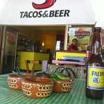 salsa bar and your table and freezing cold cerveza...love this place.