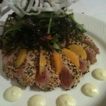 Best sesame crusted ahi tuna salad ever