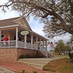 Harbor View's wraparound porch and outdoor seating