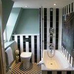 modern and clean bathroom LOW CEILINGS if you are over 6ft