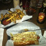Buffalo Brat, Fries & Beer