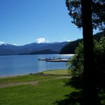 Early morning walks along a sparkling lake