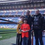 With David at the Bernabeu Stadium