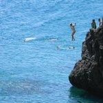 cliff dive!