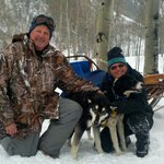 My uncle Terry and me with the fabulous Krabloonik sled dogs