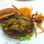 Espectacular hamburguesa de lentejas