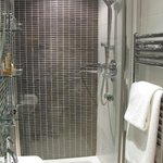 Shower and towel warmer (it works!), room 11