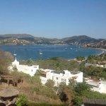 overlooking the bay at Zihautenejo