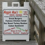 The bay side of Maggie Mae's