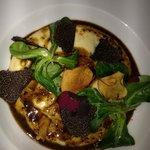 black truffles, crispy fried garlic, polenta, heavenly...