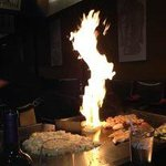 The volcano onion at the hibachi grill!