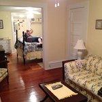 Rummet vi fick hos Sören och Kim på Farnsworth House var en fantastisk tvårums