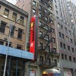 Outside Broadway times hotel
