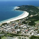 Aerial view of Byron Bay - our laneway is between 2nd & 3rd Streets back from the beach