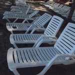 Chairs at the beach. All of them were broken.