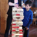 Don't forget to sign a Jenga block.