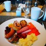 朝食も満足