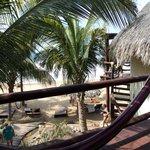 View from upstairs cabana balcony