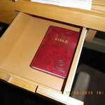 A dust covered bible ... this IS a Casino Hotel alright