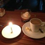 yummy gelato w/ espresso for dessert