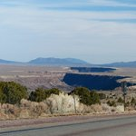 The gorge as see from route 68 heading towards Taos