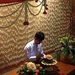 Doing flower from water Mellon Siam Niramit restaurant