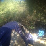 Our tent on a bush camp site