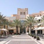 Courtyard with restaurants