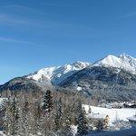 Aussicht von der Terrasse Winter