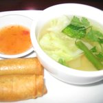 Egg Roll and Vegetable Soup.