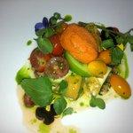 most amazing tomato salad and frozen gazpacho