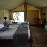 our lovely tented room
