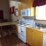 Full size kitchen in Lofted Cabin