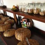 What surprises await under the breakfast baskets?