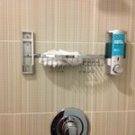 Missing shampoo dispenser