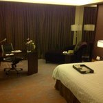 spacious room with complimentary fresh fruits daily