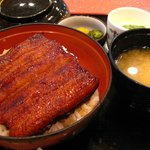 Grilled eel rice set