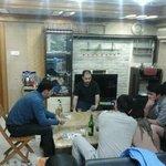 guests gathering at night. friendly enviro