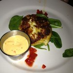 Yummy crab cake appetizer