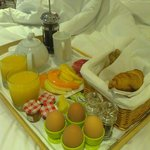 our breakfast in bed!