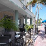 Hotel veranda on Collins Avenue