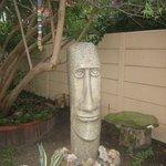 Kunstvoll gestalteteter Garten