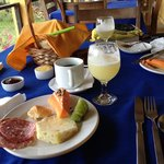 Lovely tables set for breakfast