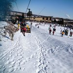 ski lift to the bunny slope