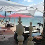 Vista desde restaurante de la playa